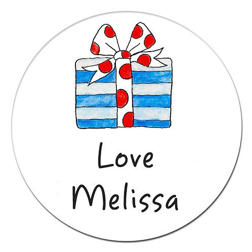 Blue Red Gift Stickers