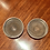 Thumbnail: PAIR OF STERLING AND WOOD COASTERS