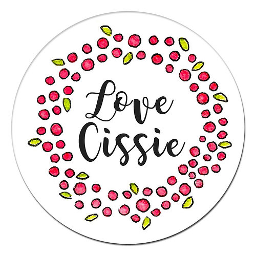 Berry Wreath Stickers