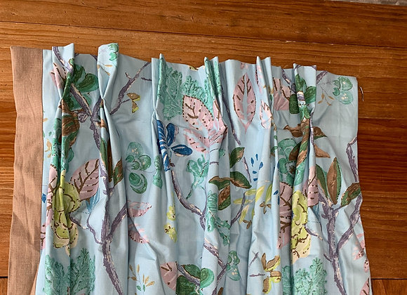 3 SETS OF FLORAL CURTAIN PANELS