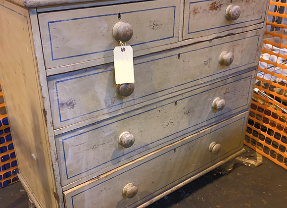 ENGLISH PAINTED PINE REGENCY CHEST