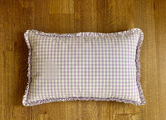 PURPLE GINGHAM ACCENT PILLOW