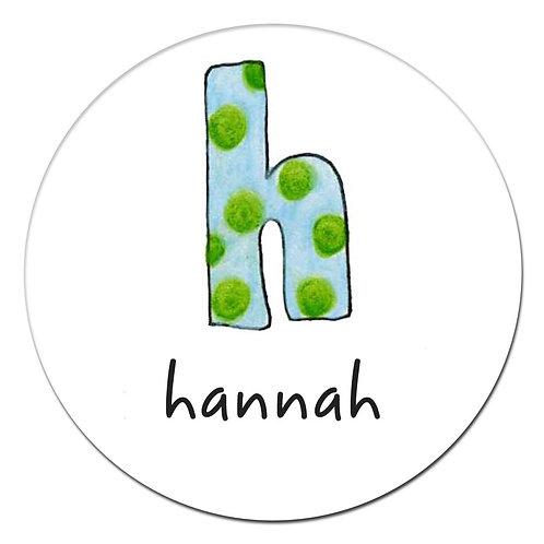 h Blue Green Dots