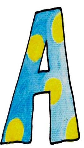 A U Blue Yellow Dots