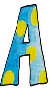 A U Blue Yellow Dots