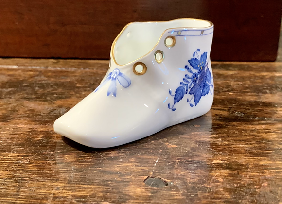 HEREND BLUE BABY SHOE