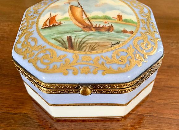 LIMOGES LA GLORIETTE NAUTICAL BOX
