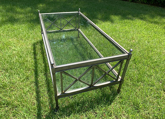 IRON COFFEE TABLE WITH GLASS