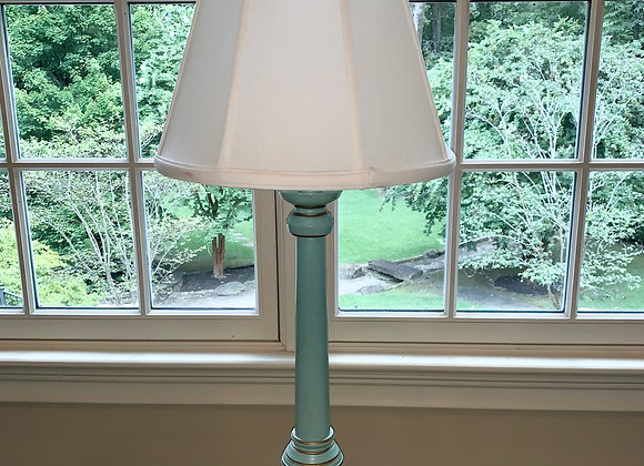 GREEN CANDLESTICK ACCENT LAMP