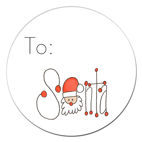 Santa Sign Sticker