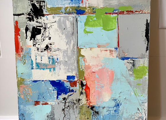 ABSTRACT PAINTING BY JANE FARRIMOND KELTNER