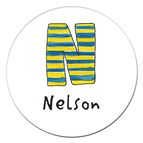 N Blue Yellow Stripe