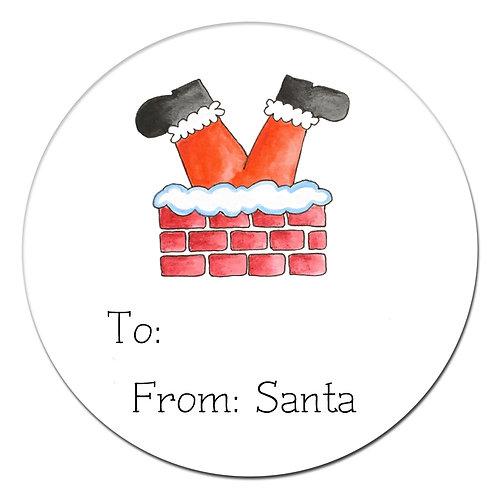 Santa's Stuck Sticker