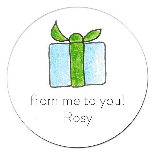 Blue Gift Sticker