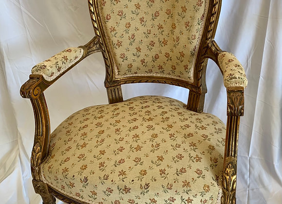 PAIR OF FRENCH GILT WOOD CHAIRS