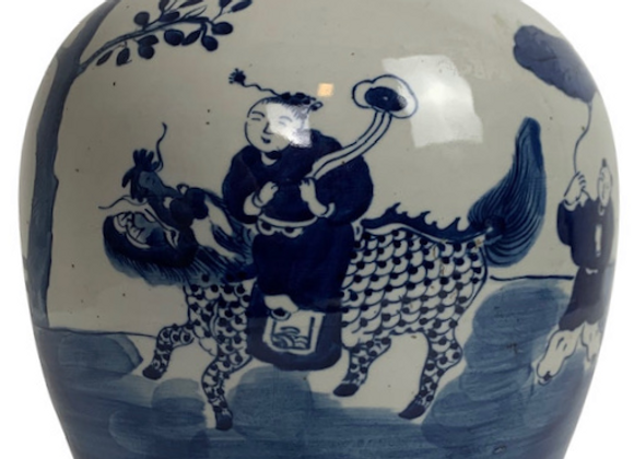 ANTIQUE CHINESE MELON JAR