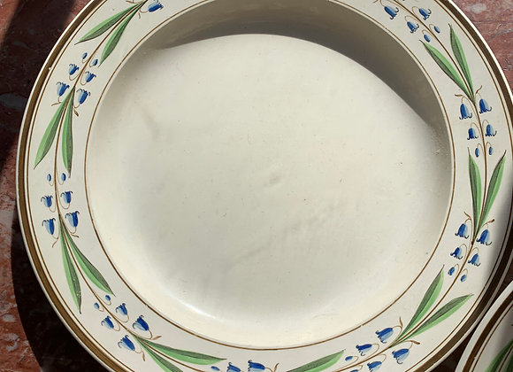 4 Wedgewood Blue Floral Plates