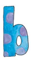 B L Blue Purple Dots