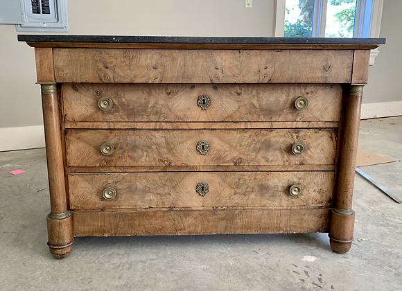 ANTIQUE EMPIRE STYLE MAPLE COMMODE