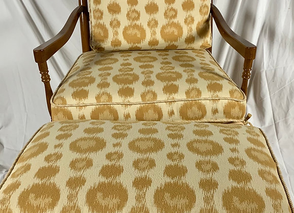FRUITWOOD BERGERE CHAIR W/OTTOMAN