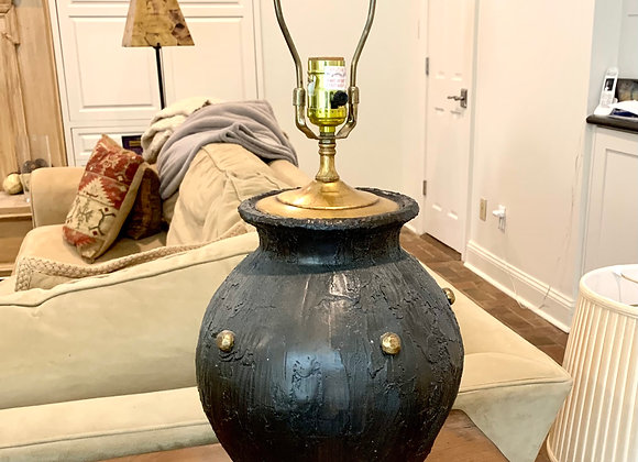 BLACK AND GOLD STUDDED LAMP