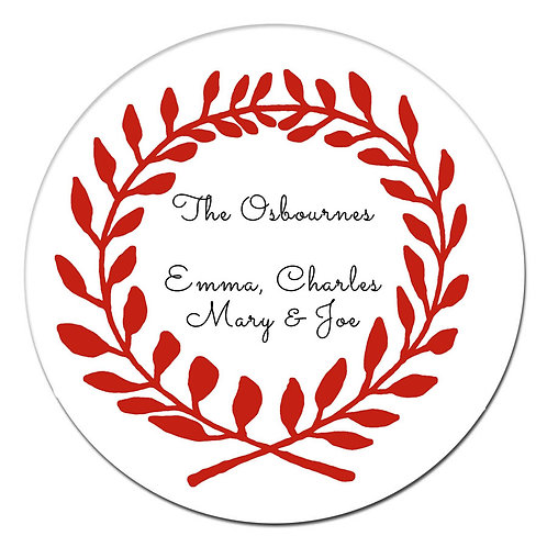 Wreath Red Sticker