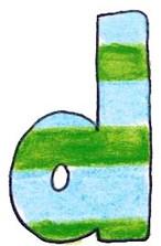 D L Blue Green Stripe