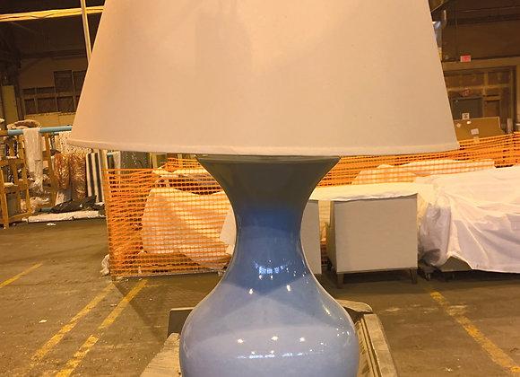 BLUE PORCELAIN HWANG BISHOP LAMP