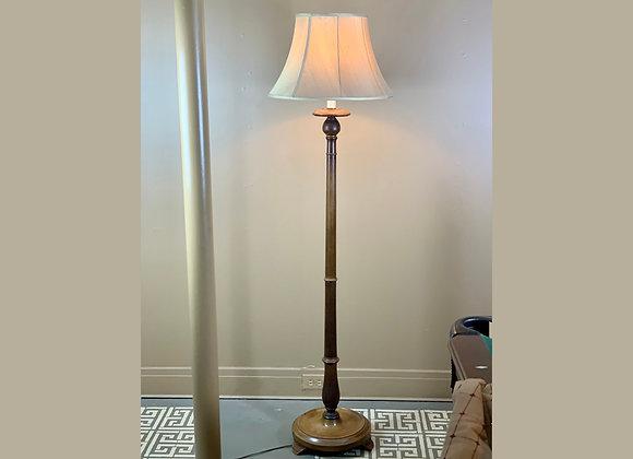 STANDING WALNUT FLOOR LAMP