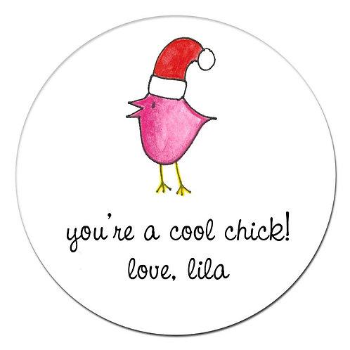 Holiday Chick Sticker