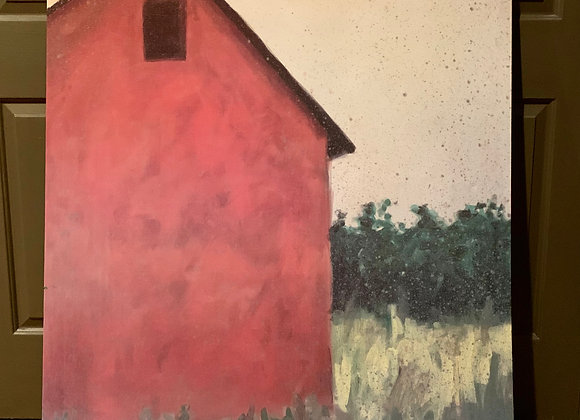 PRINT OF BARN ON WRAPPED CANVAS
