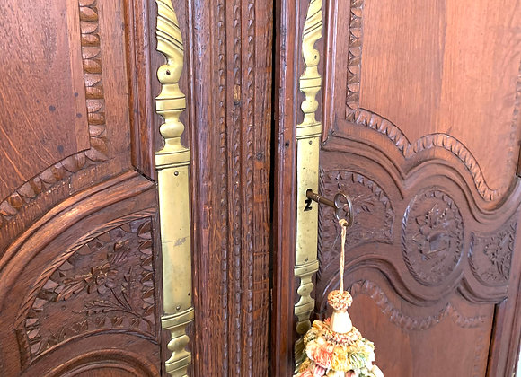 19TH C FRENCH WEDDING ARMOIRE