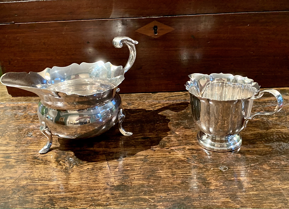 PAIR OF SILVERPLATE SMALL PITCHERS