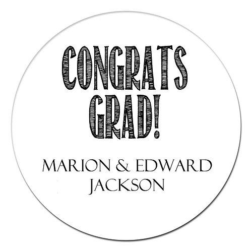 Congrats Grad Black