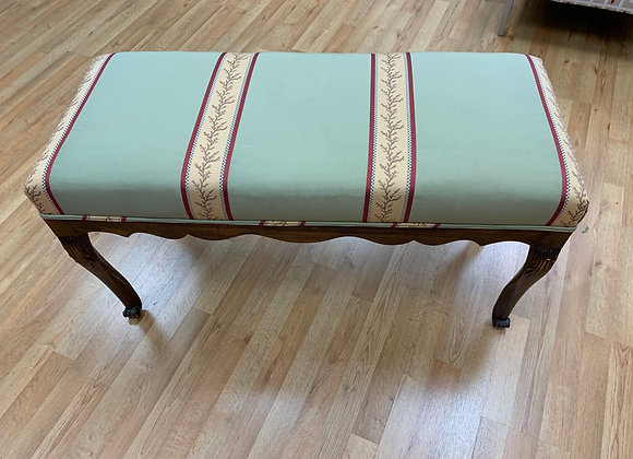 UPHOLSTERED STRIPED BENCH