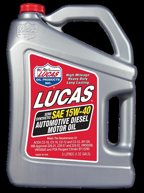 10337 SAE 15W-40 DIESEL EURO SPEC 5 liter jug, (case X 4)