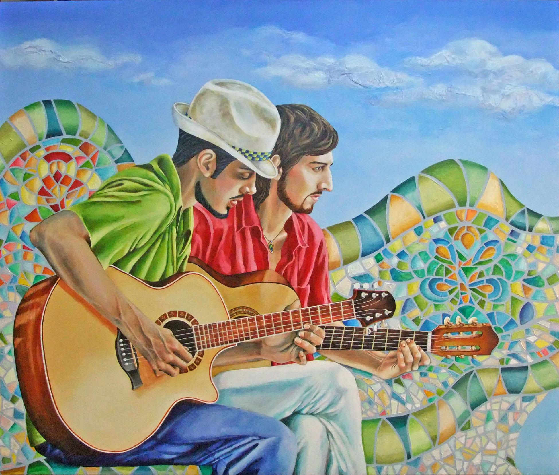 Les guitaristes du parc Guëll