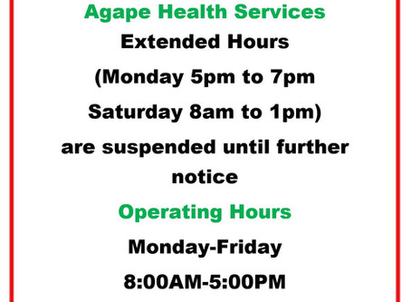 After Hours Services Suspended due to COVID-19