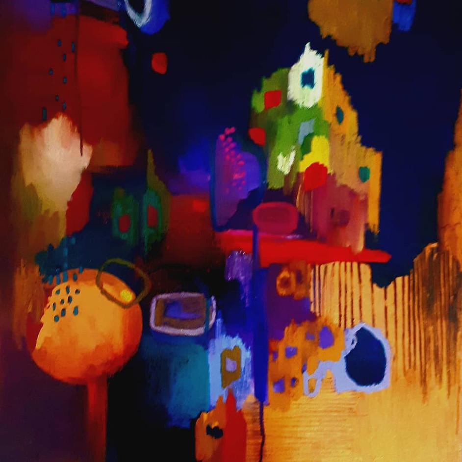 peinture abstraite - Huile sur toile