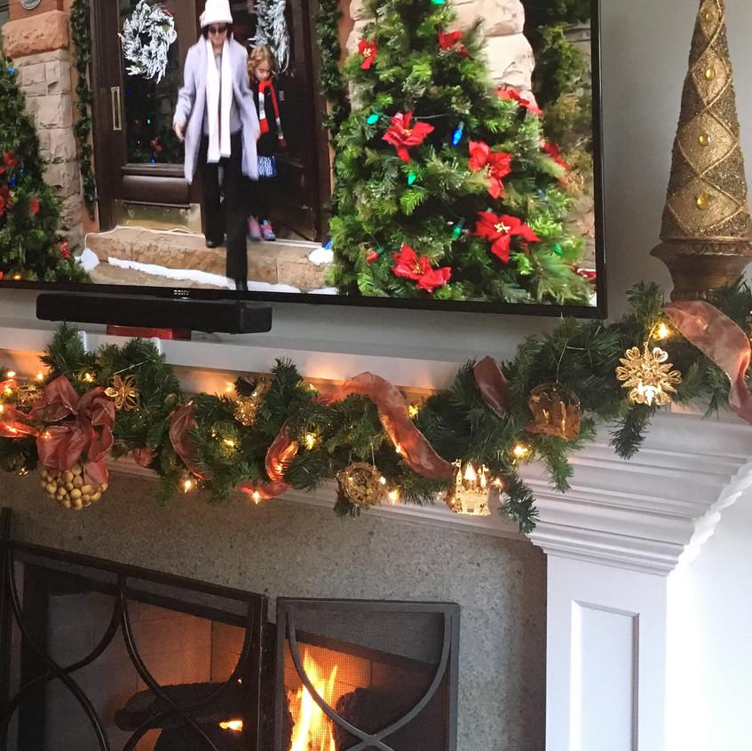 Living room mantel