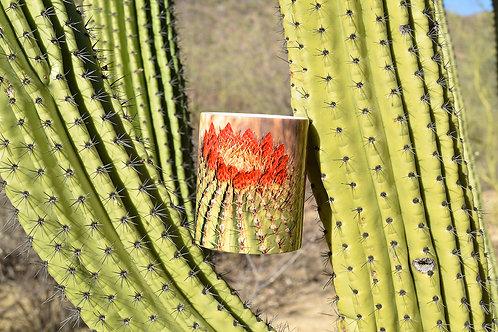 Taza de cerémica con fotografía de Cactus de Barril