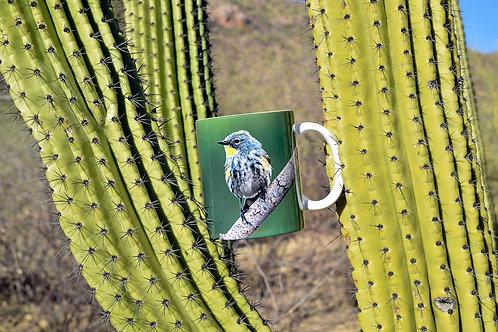 Taza de cerámica con fotografía de ave