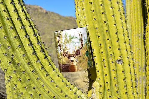 Taza de cerámica con fotografía de Venado Bura de Sonora