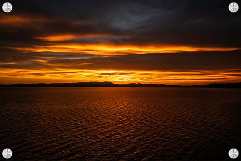 Atardecer en el mar de Cortez - Montaje en Acrilico