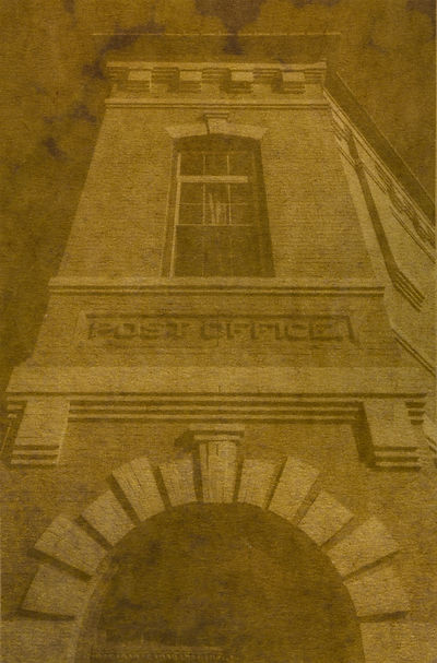 Manassas Post Office Anthotype