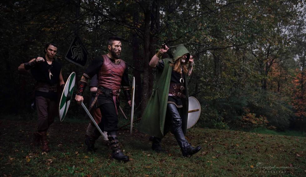3 men going to battle