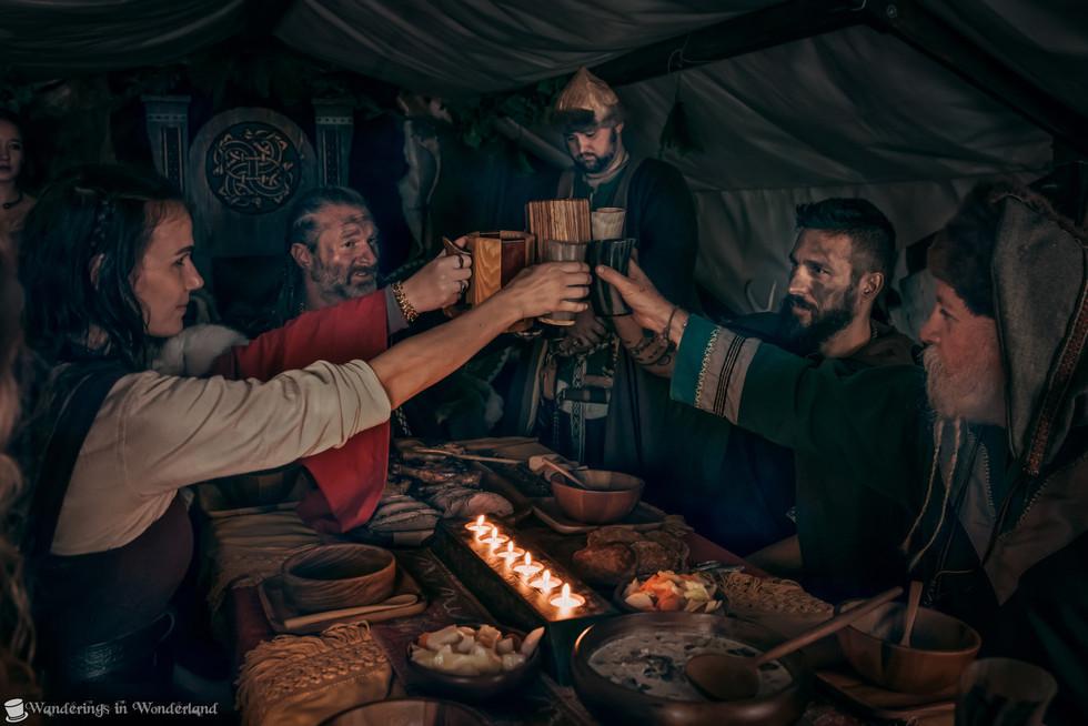 Viking Experience Feast Cheers