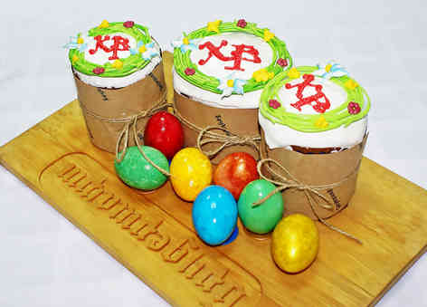 Фото куличей и пасхальных яиц