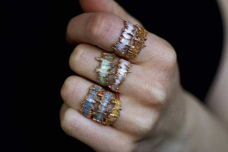"Mineral ""Shield"" Rings"