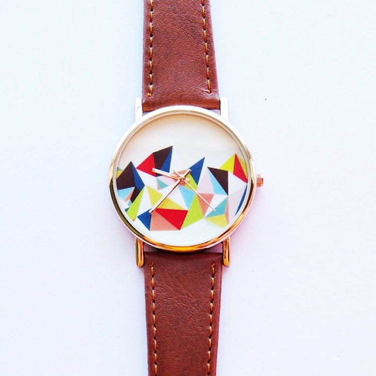 Colored Geometric Mountain Watch